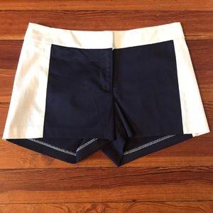NWT Ivory & Navy JCREW Shorts